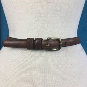 Vtg Coach skinny belt made in NYC, leather & brass
